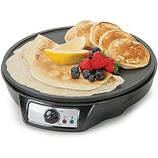 Global Gourmet Pancake Maker & French Crêpe Machine | Non-Stick 12 Inch Electric Pan | Portable Cooking Machine | Batter Spreader & Spatula | 5 Settings | Adjustable Temperature Control:Peliculas-gratis
