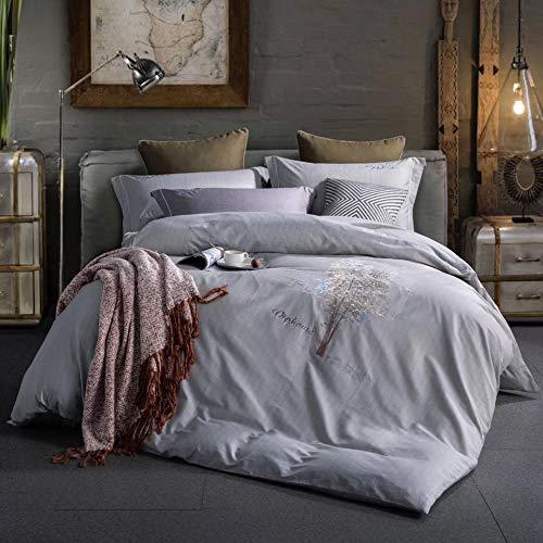 yaonuli Bedding vierdelige bedrukking vierdelige set van lakens dekbed kit grijs 200 * 230