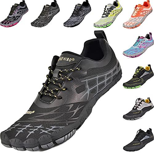 JACKSHIBO Zapatillas unisex minimalistas con dedos de secado rápido, para correr, para...