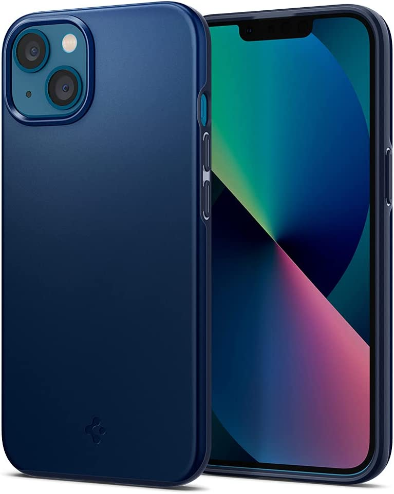 Spigen Thin Fit Designed for iPhone 13 Mini Case (2021) - Navy Blue