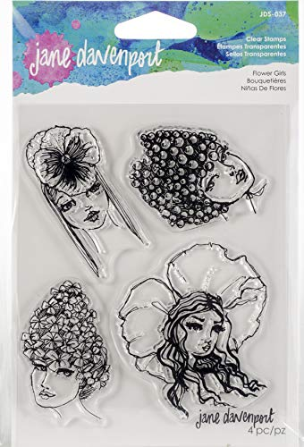 Spellbinders JDS-037 Jane Davenport Flower Girls Carimbos transparentes