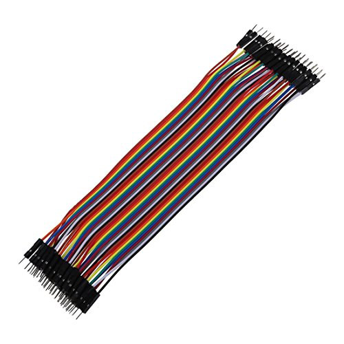 SODIAL(R) 40pzs 20cm 2.54mm macho a macho Cable alambre jumper de placa de pruebas para Arduino