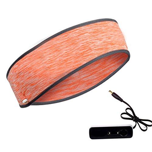 Justdolife Musik-Stirnband waschbar Eingebauter Leichter Kopfhörer-Kopfband Sport-Stirnband für das Training