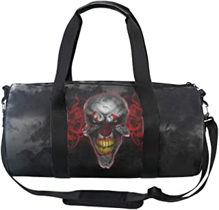 Sports Gym Bag Small Travel Duffel Bag Scary Joker Bags for Men Women