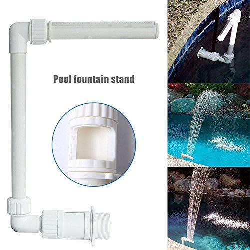 hinffinity Pool Wasserfall Spray Pool Verstellbarer, Langlebiger Spa-Brunnen Für 1,5-Zoll-Rücklaufanschlüsse Mit Gewinde, Ersatz Für Schwimmbadzubehör
