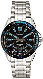 Casio Men's MTD1066D-1AV Silver Stainless-Steel Quartz Watch with Black Dial ...