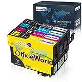 OfficeWorld 502 XL Patronen Ersatz für Epson 502XL Multipack Druckerpatronen Kompatibel mit Epson Workforce WF-2860DWF WF-2865DWF WF-2860 WF-2865 WF2860 WF2865 Expression Home XP-5100 XP-5105 XP-5115