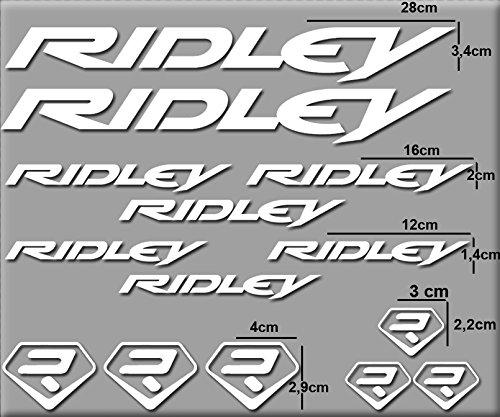 Ecoshirt 35-7VGY-XXPI Aufkleber, Ridley R72 Vinyl Adesivi Decal Aufkleber públicpúblicŸ MTB Stickers Bike, weiß