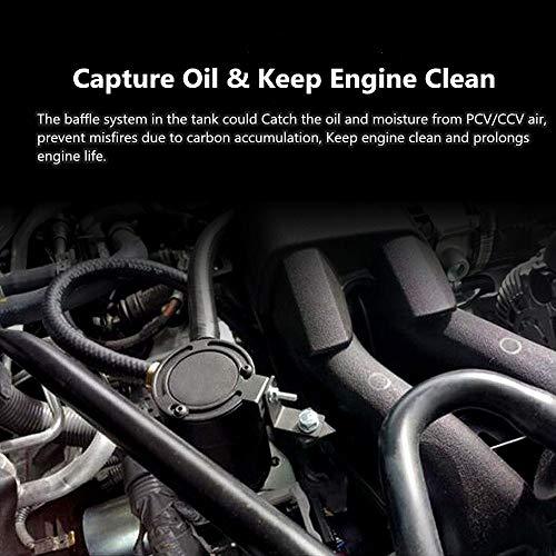 2-Port Black Sporacingrts Oil Catch Can Universal