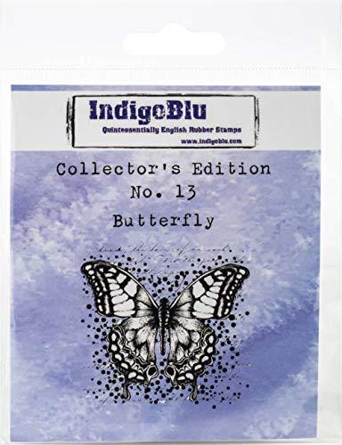IndigoBlu IND0406 Stempel, Sammlerausgabe, haftklebend, 5,1 x 5,1 cm, 13 Schmetterling