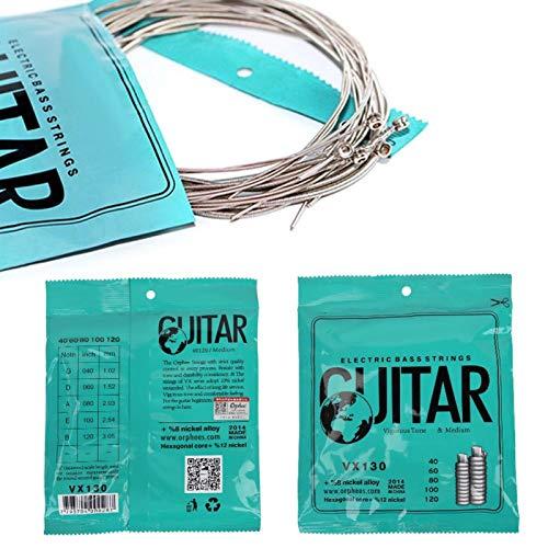 Prácticas cuerdas de aleación de níquel, para principiantes de bajos Para amantes de los bajos de la guitarra eléctrica.