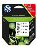 Hewlett Packard 932XL/933XL High Capacity Ink Cartridge Combo Pack - Black/Tri Colour