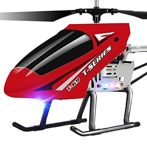 IBalody Helicóptero de control remoto súper grande de 2.4 GHz 3.5 canales Gyro anticolisión Iluminación LED Aviones RC Helicóptero al aire libre controlado por radio Heli principiante for adultos adol