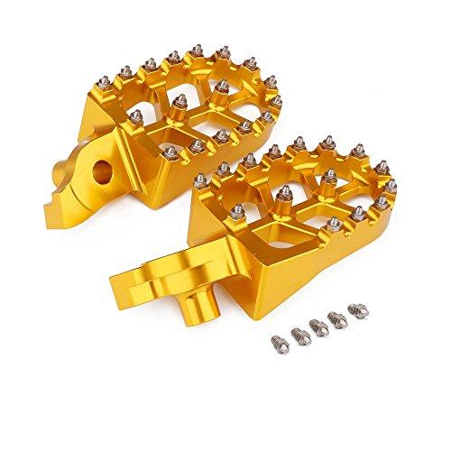 Pedali CNC per moto Pedane poggiapiedi Poggiapiedi per Suzuki RMZ250 2007-09 RMZ450 05-07 -Gold
