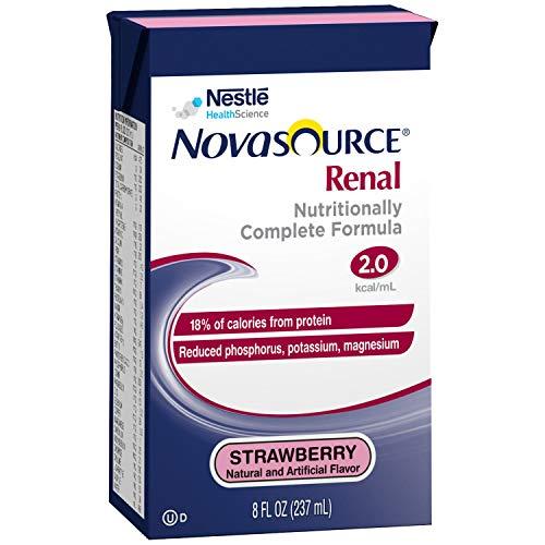 Novasource Renal Strawberry Flavor 8 oz. Carton Ready to Use, 00043900640518 - Case of 27