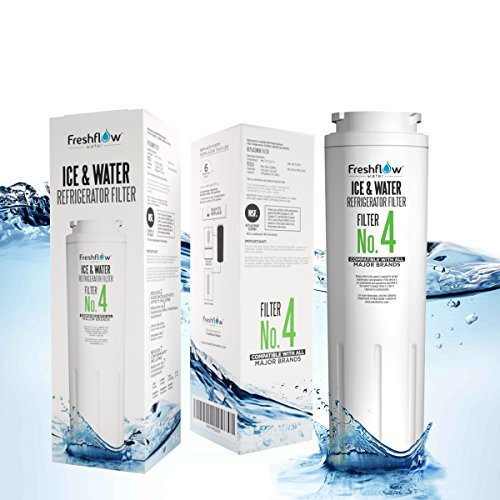Refrigerator Water Filter Replacement For Models UKF8001, 4396395, EDR4RXD1, UKF8001AXX Found In Leading Big Name Brands Of Bottom Freezer And Side-By-Side Door Fridge - By Freshflow Water (1 Pack)