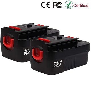 VANTTECH - Pack de 2 baterías de 3,0 ah HPB18 NI-CAD para Black and Decker 18 V inalámbricas HPB18-OPE HPB18-OPE2 244760-00 Firestorm FS18FL FSB18