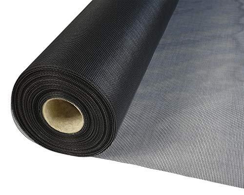 Insetto Fliegengitternetz aus Fiberglasgewebe (UV- und witterungsbeständig) (1,0m x 2,5m, Schwarz)