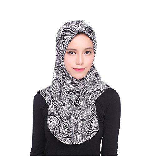 GladThink De Las Mujeres De Seda Del Hielo Musulmán Hijab Pañuelo