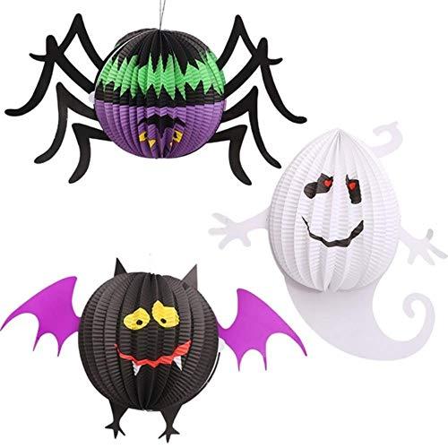 Conjunto de 3 piezas de linternas de Halloween COS