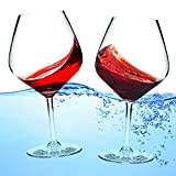 Unbreakable Floating Wine Glasses, Shatterproof 21 Oz Tritan Plastic Reusable Stemware, Versatile Cups With Stem For Both Indoor and Outdoor Use At The Poolside Or Beach, Set of 2