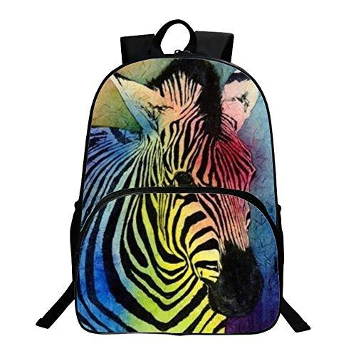 HAIHF Rugzak voor kinderen, modieus schattig dier zebra student rugzak unisex schooltas reiscasual rugzak