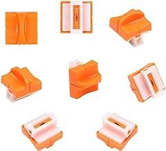 flintronic 8pcs Cuchillas de Repuesto para Cortador de Papel con Diseño de Seguridad Automático para Recortador de Papel A4, Naranja