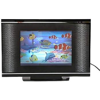 Lightahead LCD Black Screen Artificial Tropical Fish Aquarium Decorative Lamp Virtual Ocean in Motion