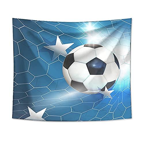 Tapiz Pared de Creativo, Morbuy Estampado de Fútbol 3D Decoración Tapices Tapicería Cubierta del Sofa Manteles Cortina Picnic Blanket Playa Accesorio Casero (Fútbol Europeo,150x130cm)