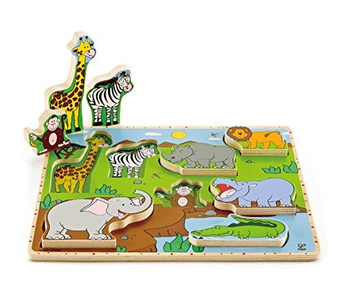 Hape E1451 - Puzzle Gli Animali Selvaggi Si Alzano