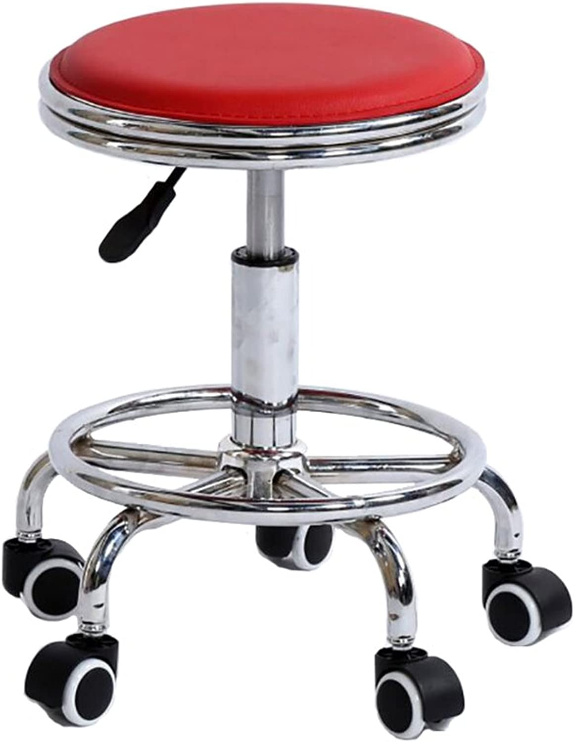 AIDELAI Bar Stool Chair- Bar Stool Bar Bar Chair Lift Beautician Hairdresser Make - Up Chairs Large Chair Laboratory Swivel Chair Saddle Seat (color   A, Size    2)