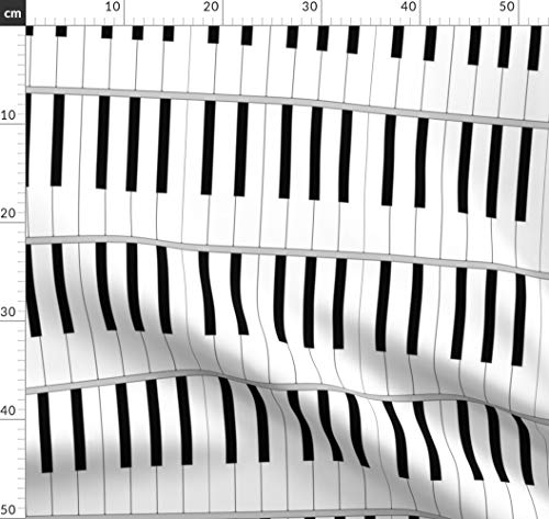 Tastatur, Organ, Musikinstrument, Klavier, Musik Stoffe - Individuell Bedruckt von Spoonflower - Design von Sef Gedruckt auf Samt