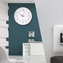 Stable Performance Large Display Modern Home Wall Clock, Simple Office Wall Clock, for Bedroom Dining Room Living Room Kit...