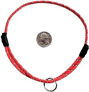 طوق لمعرف الكلاب جبل الحبل من ناشيونال ليش - باللون الأحمر التوليبي - متوسط (35.56 سم - 50.8 سم) فائق الخفة