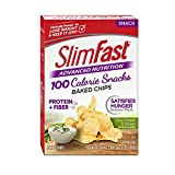 SlimFast Advanced Nutrition 100 Calorie Snacks, Baked Chips, Sour Cream & Onion, 1 oz. Bag (Pack of...
