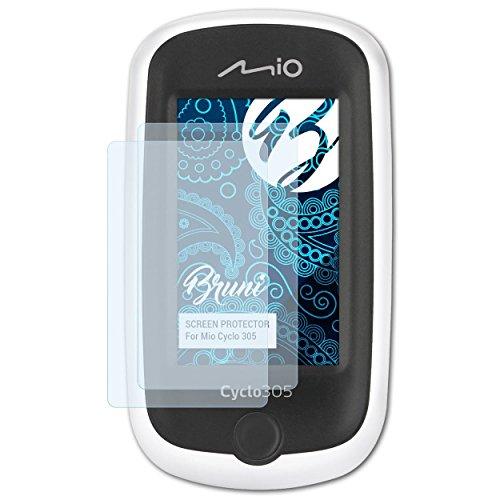 Bruni Schutzfolie kompatibel mit Mio Cyclo 305 Folie, glasklare Bildschirmschutzfolie (2X)