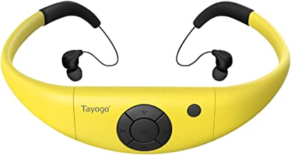 Waterproof Music MP3 Player for Swimming, IPX68 8GB Swimming Headphones with Shuffle Feature,Perfect for Swimming, Diving ... photo