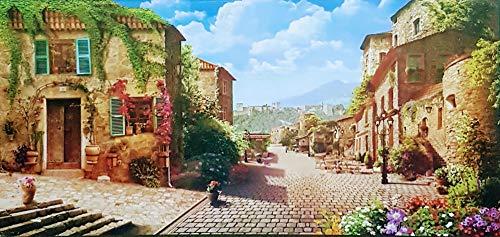 MI RINCON Cuadro de Madera Vintage Pueblo Sur de Francia,