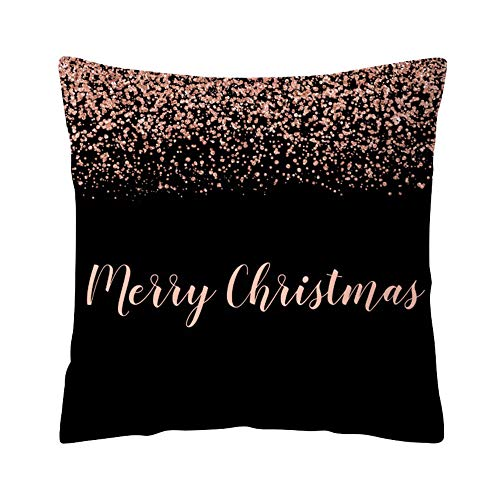 Janly Clearance Sale Pillowcase, Rose Black Gold Cushion Cover Square Pillowcase Home Decoratio, Home & Garden (K)
