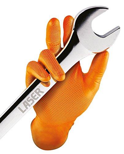 klinische Handschuhe GrippazTM Einweg-Nitrilhandschuhe 50 St/ück medizinische und klinische Hochleistungshandschuhe Gr/ö/ße S schwarz