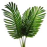 5 Pack Palm Artificial Plants Leaves Decorations Faux Large Tropical Palm Leaves Imitation Ferns Artificial Plants Leaf for Home Kitchen Party Flowers Arrangement Wedding Decorations