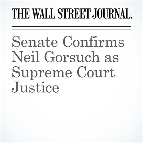 Senate Confirms Neil Gorsuch as Supreme Court Justice copertina