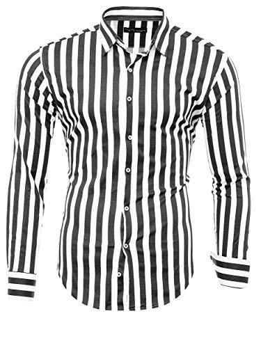 Kayhan Herren Hemd, Striped MX MZ Black XL