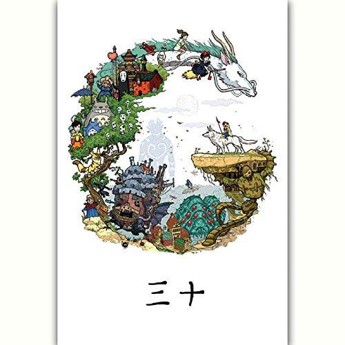 Japanische Anime Puzzle Kunst Ghibli Tribut Manga Papier Puzzle 1000 Stück Kinder Montage Spiel Lernspielzeug 70 * 50CM