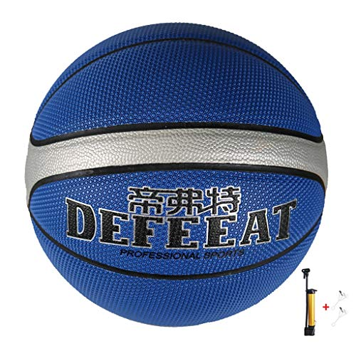 Find Discount YE ZI Basketballs- Standard Basketball Indoor Outdoor No. 7,with Pump (Color : Blue)