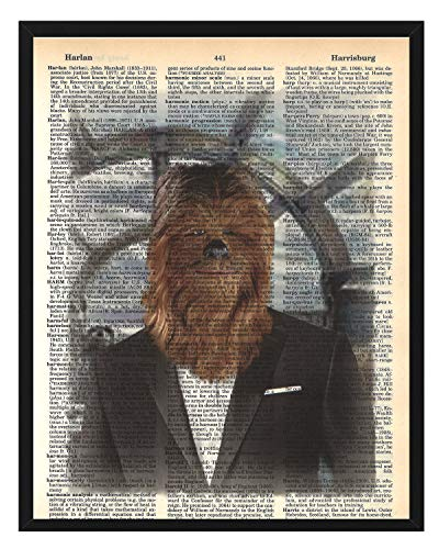 Star Wars Chewbacca Wall Decor Star Wars Poster Chewbacca Dictionary Art Mixed Media Print 8 x 10