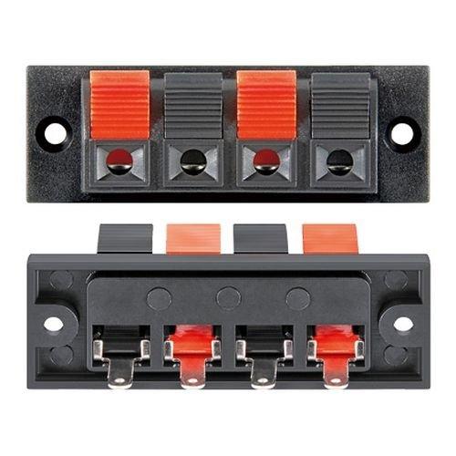 Conjunto de 4 bornes para Altavoz Rectangular Negro, Cablepelado