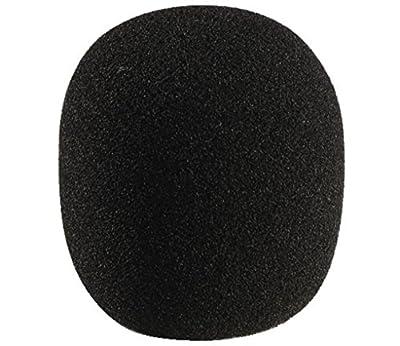 Monacor 23.2610 60x70mm Foam Microphone Windshield - Black