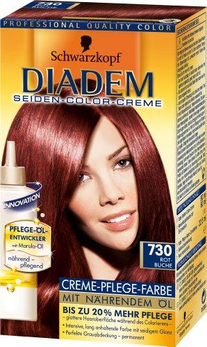 Schwarzkopf Diadem Seiden-Color-Creme Stufe 3, 730 Rotbuche