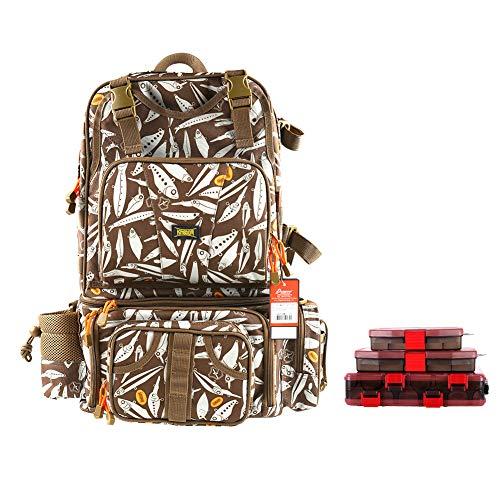 Kingdom Fishing Bag Men's Multifunctional Messenger Bag Backpack is Vintage and Multifunctional...